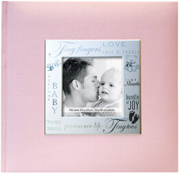 "MBI Fabric Expressions Photo Album 8.5""X8.5"" - Baby - Pink"
