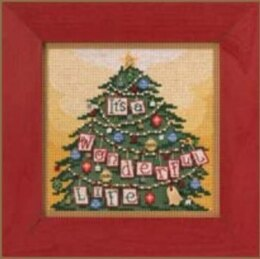 Mill HillIt's a Wonderful LifeCross StitchKit - 5.25in x 5.25in