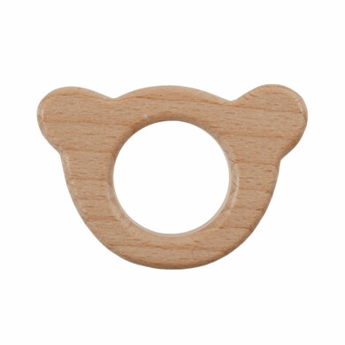 Trimits Macrame Wooden Craft Shapes for Hanging Decorations and Baby Accessories - Teddy