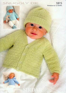Cardigans, Hats, Mittens & Bootees in Sirdar Snuggly DK - 1815
