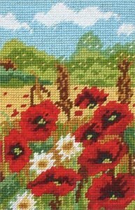 Anchor Poppy Field Tapestry Kit - 15 x 23 cm
