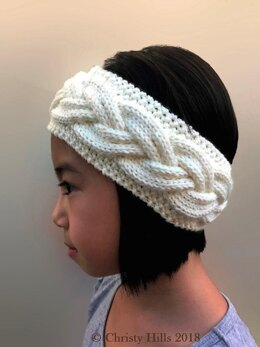 Milky White Cables Headband/Ear Warmer Knitting Pattern