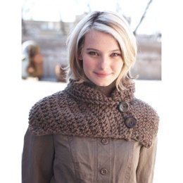 Buttoned Wrap Scarf in Bernat Roving
