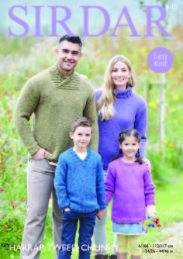 Sweaters in Sirdar Harrap Tweed Chunky - 8105 - Downloadable PDF