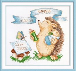 Oven Little Boy Hedgehog Cross Stitch Kit