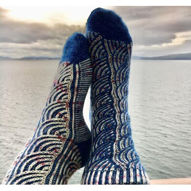 Briny Path Socks