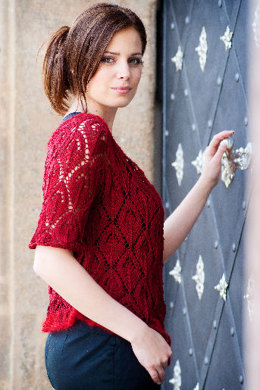 Top-Down Lace Cardigan in Artyarns Silk Pearl and Silk Mohair - I203