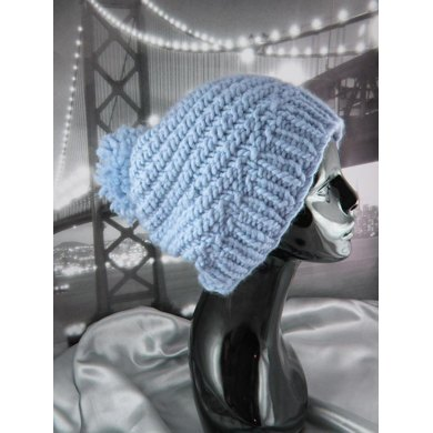 Superfast Swirl Bobble Slouch Hat Circular