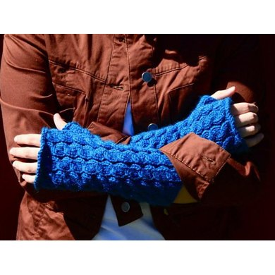 Wavelets Fingerless Gloves