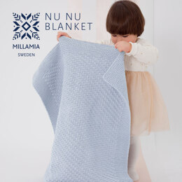 """""""Nu-Nu Blanket"""" - Baby blanket Knitting Pattern For Babies in MillaMia Naturally Soft Aran by MillaMia"""