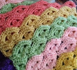 Irish Wave Baby Afghan