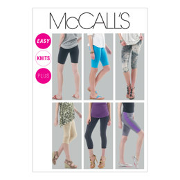 McCall's Misses'/Women's Leggings In 4 Lengths M6360 - Sewing Pattern