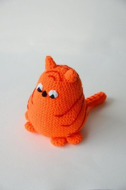 Little Fat Cat Crochet Pattern, Cat Amigurumi