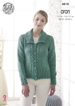 Jacket & Waistcoat in King Cole Fashion Aran - 4818 - Downloadable PDF