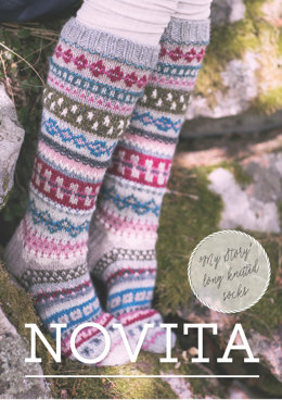 My Story Long Knitted Socks in Novita 7 Veljestä - Downloadable PDF