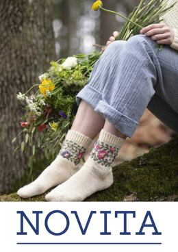Flower Socks in Novita Venla - Downloadable PDF