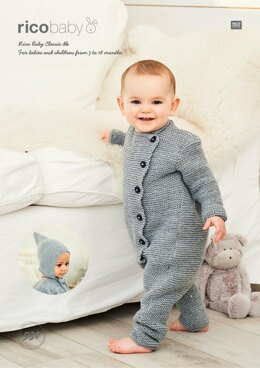 Onesie and Hat in Rico Baby Classic DK - 930 - Downloadable PDF