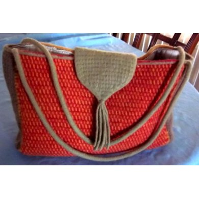 Roomy Felted Knitting & Crochet Tote Bag