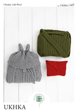 Bags in King Cole Chunky - UKHKA147pdf - Downloadable PDF
