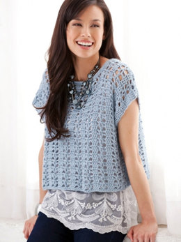 Casual Summer Top in Caron Simply Soft - Downloadable PDF