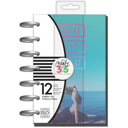 """Me & My Big Ideas Happy Planner 12-Month Undated Mini Planner 5.125""""X7.5"""" - Sweat Smile Repeat"""