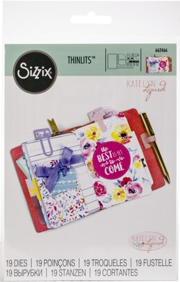 Sizzix Thinlits Dies By Katelyn Lizardi 19/Pkg - Traveler's Notebook Inserts