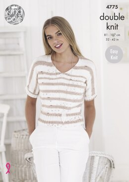 Ladies Tops in King Cole Cottonsoft Crush DK - 4775 - Downloadable PDF
