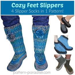 Cozy Feet Slippers PDF12-092