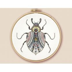 Un Chat Dans L'Aiguilles Barnaby the Scarab Beetle Embroidery Kit