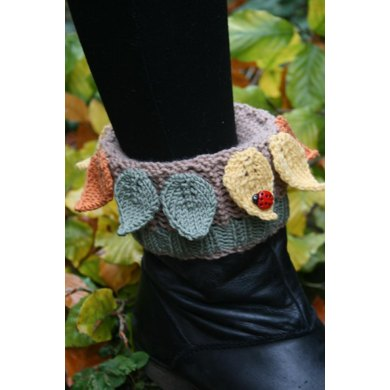 Leafy Boot Cuffs, Boot Toppers