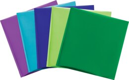 """We R Memory Keepers Foil Quill 12""""X12"""" Foil Sheets 15/Pkg - Peacock-3 Each Of 5 Colors"""