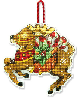 Dimensions Reindeer Ornament Cross Stitch Kit - 8.5cm x 8.5cm