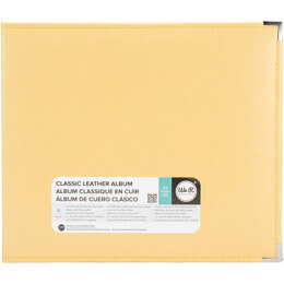 """We R Memory Keepers We R Classic Leather D-Ring Album 12""""X12"""" - Buttercup"""