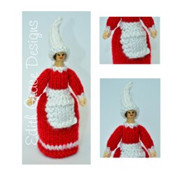 Christmas Elf Peg Doll Knitting Pattern