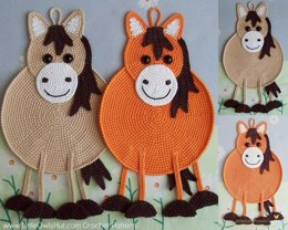 046 Horse decor, potholder or small pillow - Amigurumi Zabelina Ravelry