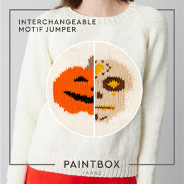 Halloween Interchangeable Motif Jumper - Free Jumper Knitting Pattern For Women in Paintbox Yarns Simply Chunky - Downloadable PDF