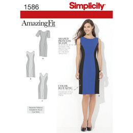 Simplicity Women's and Plus Size Amazing Fit Dress 1586 - Sewing Pattern