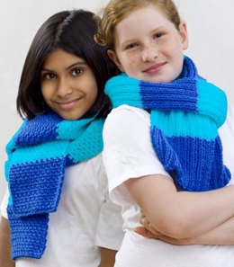 2009 Special Olympic Scarves Knit in Red Heart Super Saver Economy Solids - WR1704