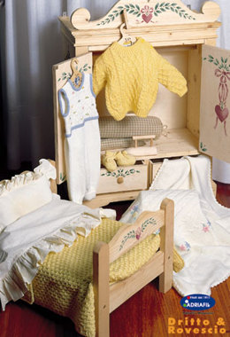 Pinafore Baby Jumper in Smock Stitch in Adriafil Dolcezza Baby - Downloadable PDF
