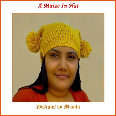 Unique Crochet Pattern Tapering Square Hat With Pompoms