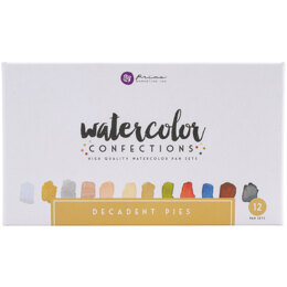 Prima Marketing Prima Watercolor Confections Watercolor Pans 12/Pkg - Decadent Pies