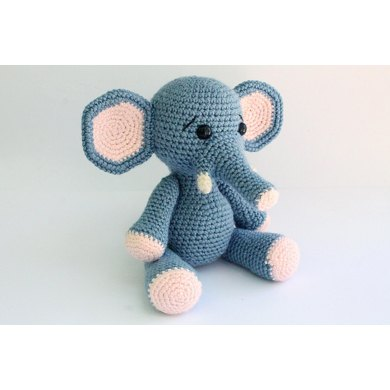 DIY Crochet Set Elephant Eco Barbante Spring | Hoooked | 390x390