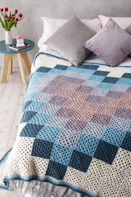 Love Me Do Blanket in Rooster Almerino Aran - Downloadable PDF