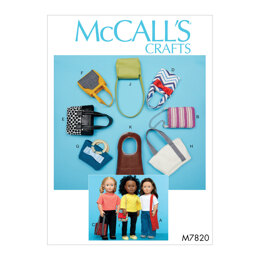 "McCall's Bags For 18"" Dolls M7820 - Sewing Pattern"