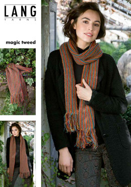 Schal in Lang Yarns Magic Tweed - Leaflet