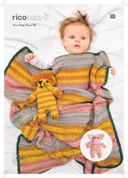 Baby's Blanket and Toy in Rico Baby Classic DK - 1034 - Downloadable PDF