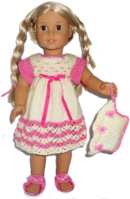 Comfy nightie set for american girl , gotz and other 18'' dolls