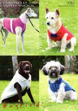 Dog Coats in Hayfield Aran With Wool - 7261