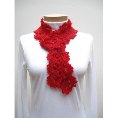 Queen Anne's Lace Scarf - PA-124b