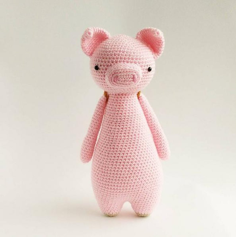 Pig With Owl Backpack Crochet Amigurumi Pattern Crochet Pattern By